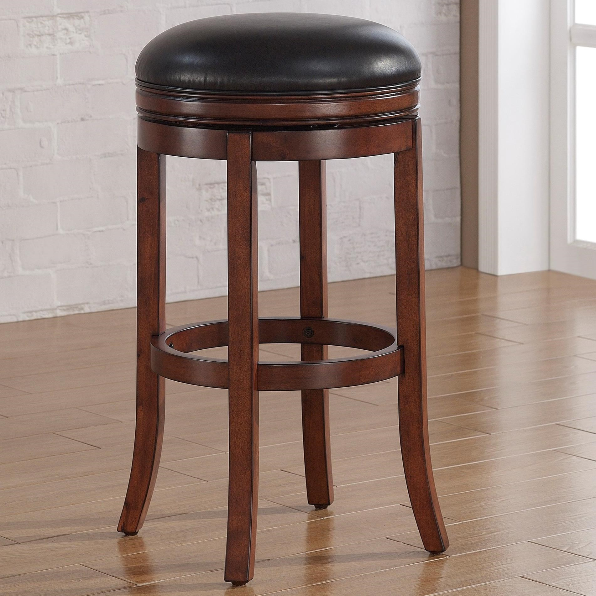 American Woodcrafters Barstools Backless Wood Stool - Item Number: B2-200-34L