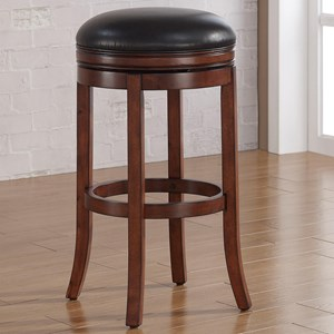 Backless Wood Stool