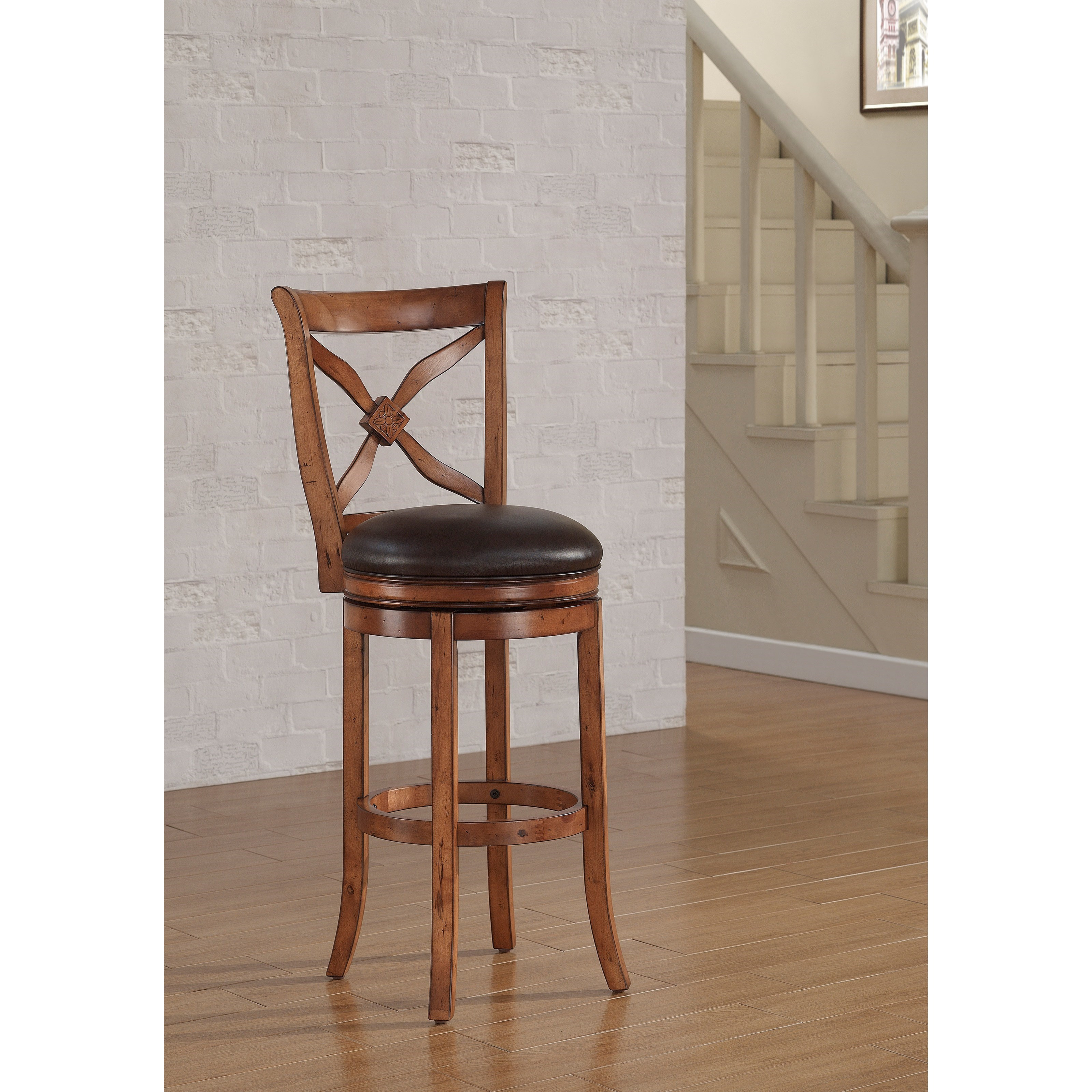 American Woodcrafters Barstools Wood Swivel Stool - Item Number: B2-201-26L