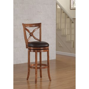 American Woodcrafters Barstools Wood Swivel Stool