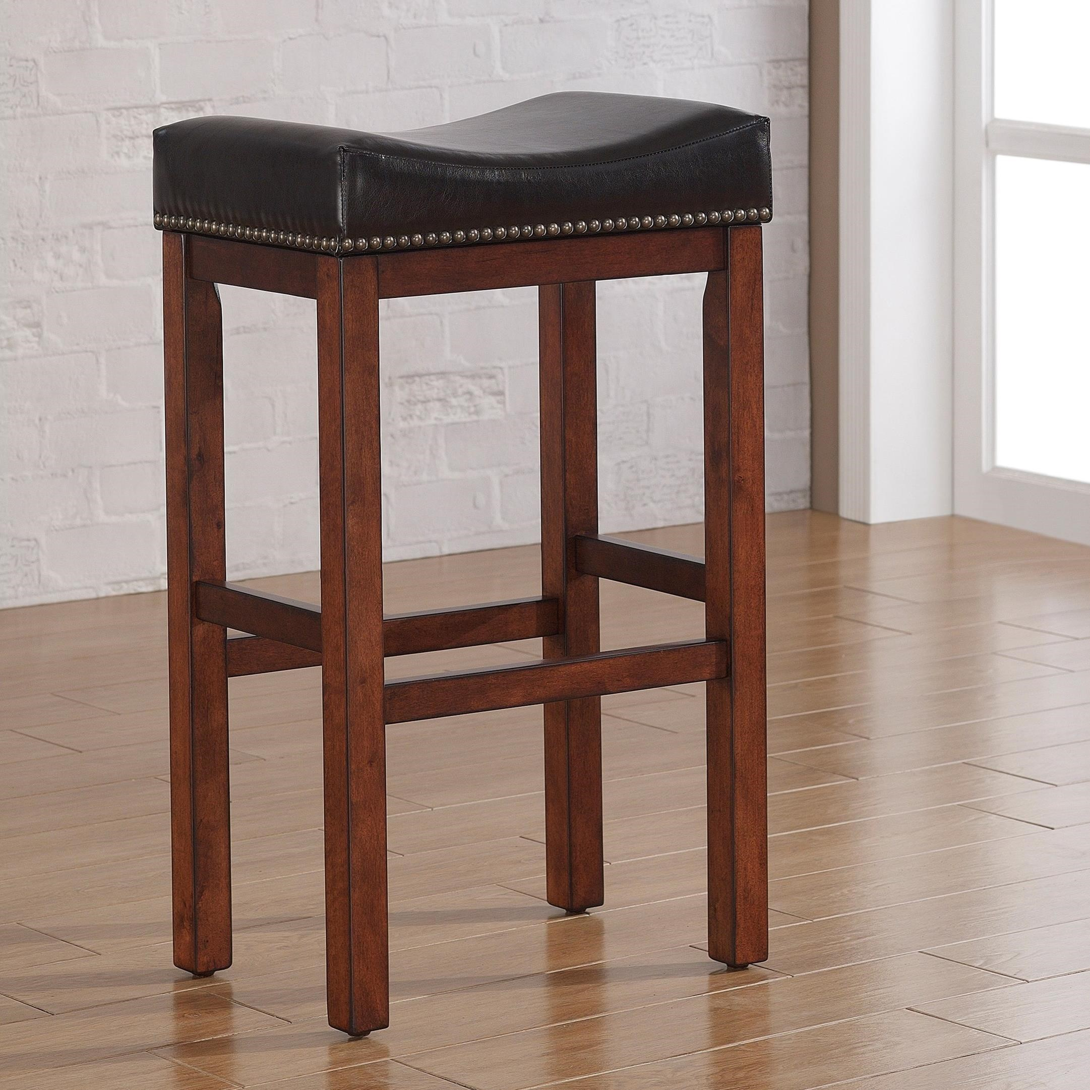 American Woodcrafters Barstools Backless Wood Stool - Item Number: B2-203-30L