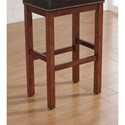 American Woodcrafters Barstools Backless Wood Stool with Upholstered Seat and Nailhead Trim