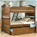 American Woodcrafters Bradford Youth Trundle Unit for Panel or Bunk Bed - 82000-906 - Shown with Bunk Bed Set
