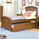 American Woodcrafters Bradford Youth Trundle Unit for Panel or Bunk Bed - 82000-906 - Shown with Youth Bed Set