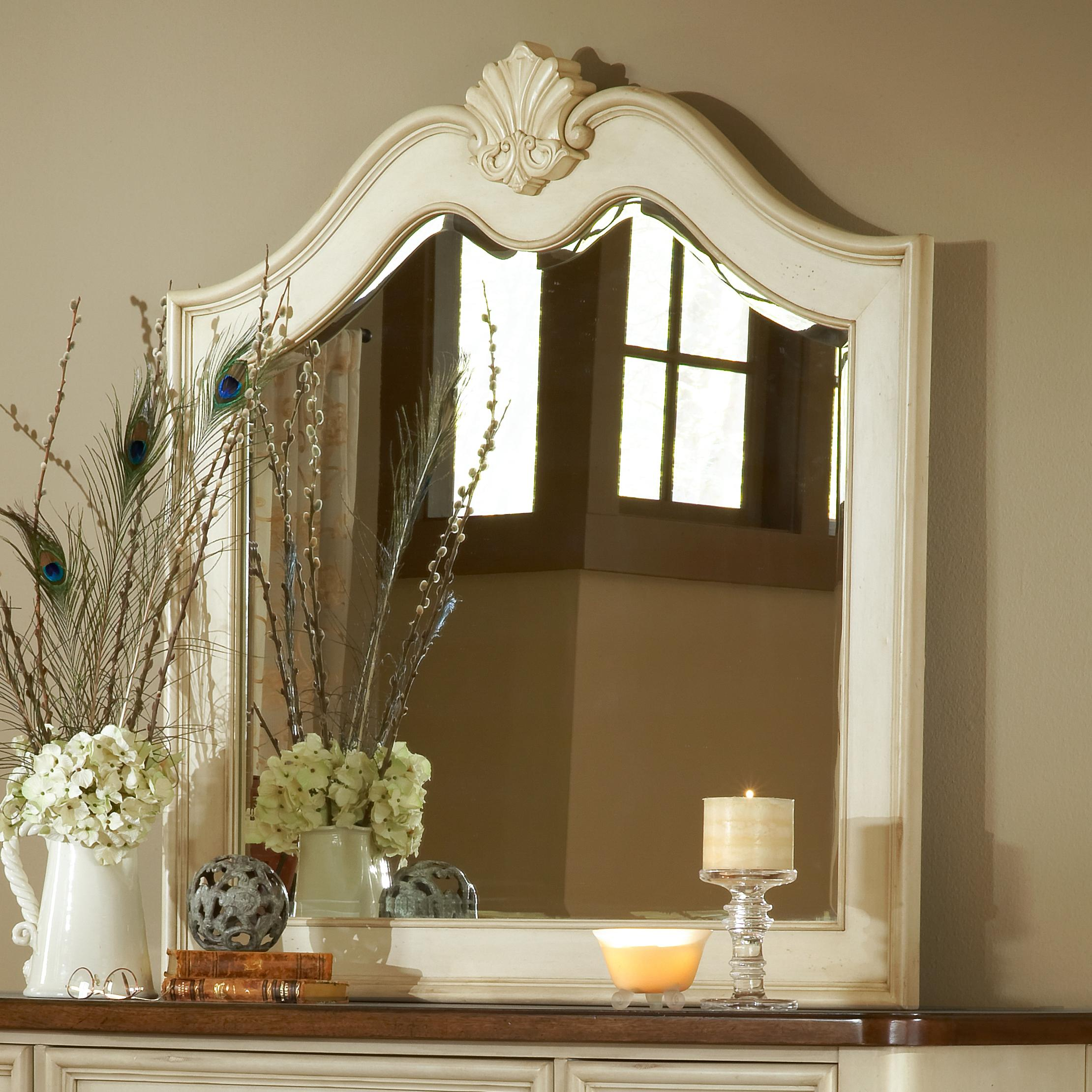 American Woodcrafters Chateau Landscape Mirror - Item Number: 3501-040