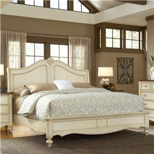American Woodcrafters Chateau Queen Sleigh Bed