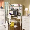 American Woodcrafters Cheri Vanity Computer Desk & Deck - 10300-343+546