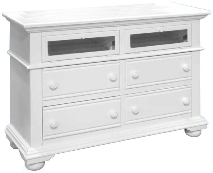 American Woodcrafters Cottage Traditions Entertainment Dresser - Item Number: 6510-232