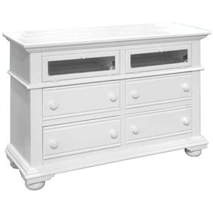 American Woodcrafters Cottage Traditions Entertainment Dresser