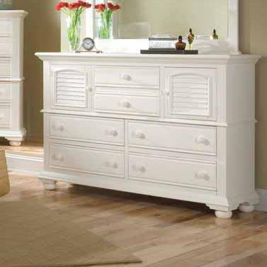 American Woodcrafters Cottage Traditions Dresser - Item Number: 6510-262