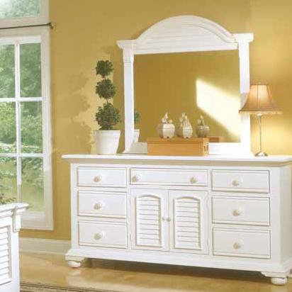 American Woodcrafters Cottage Traditions Triple Dresser and Mirror Combo - Item Number: 6510-272+032