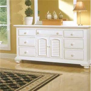 American Woodcrafters Cottage Traditions Triple Dresser