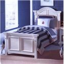 American Woodcrafters Cottage Traditions Twin Panel Bed - Item Number: 6510-33PAN