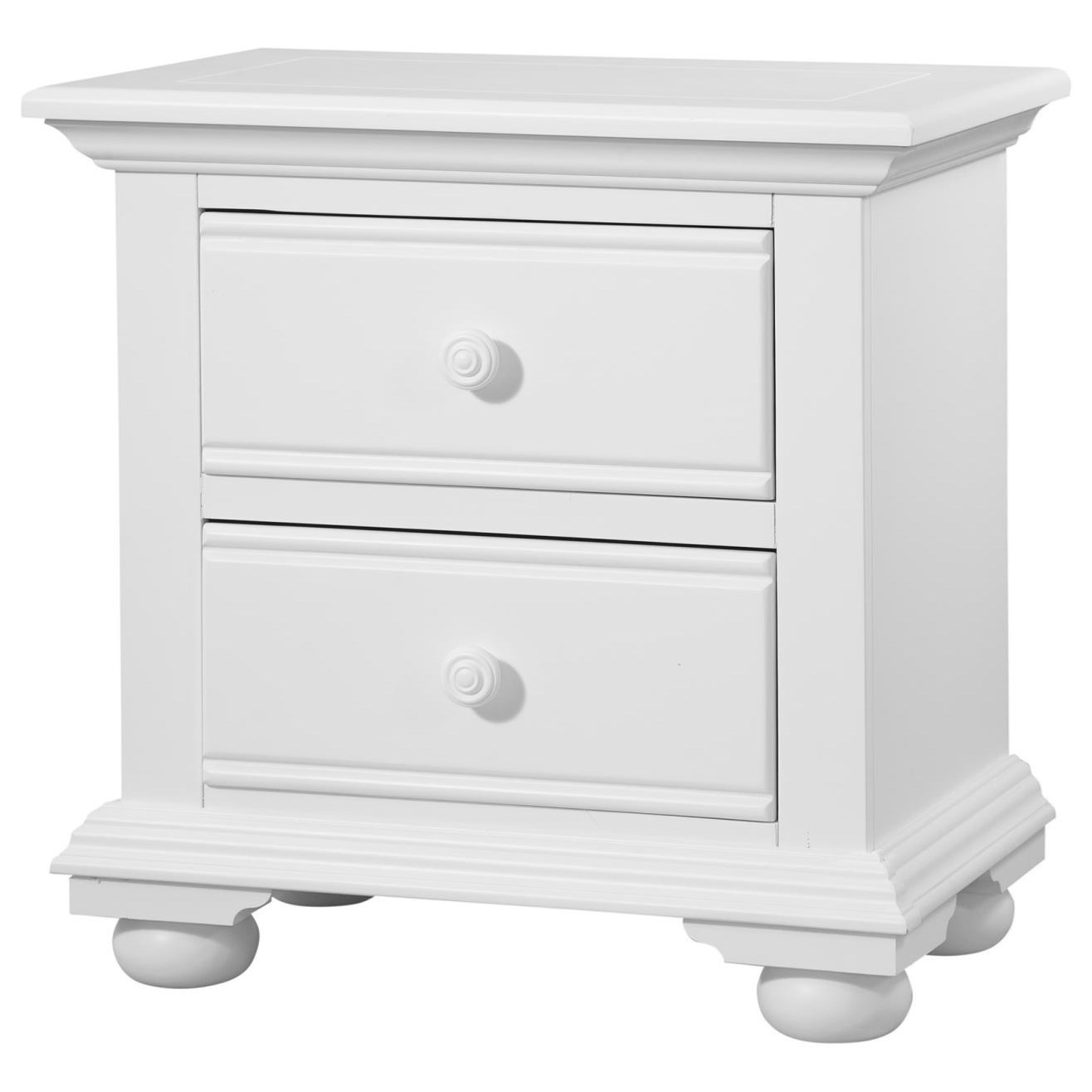 Cottage Traditions Two Drawer Nightstand by American Woodcrafters at Johnny Janosik