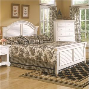 American Woodcrafters Cottage Traditions King Panel Bed