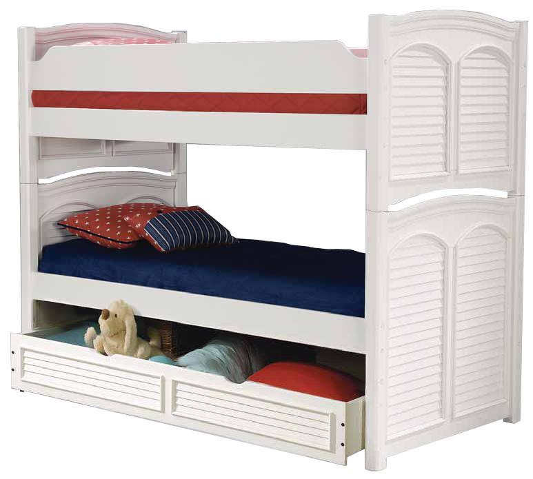 American Woodcrafters Cottage Traditions Twin Bunk Bed with Trundle - Item Number: 6510-903+904+977+997+906