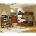 American Woodcrafters Heartland  Child's Desk w/ Hutch - 1800-343 - Desk and Hutch Shown with Chair, Chest and Bunk Bed