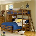 American Woodcrafters Heartland  Twin-Over-Full Student Loft - Item Number: 1800-345