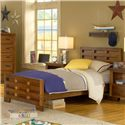 American Woodcrafters Heartland  Twin Bed Headboard & Footboard Bed - 1800-970 - Bed Shown May Not Represent Size Indicated