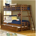 American Woodcrafters Heartland  Twin Bunk Bed w/ Trundle - 913+906