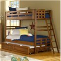 American Woodcrafters Heartland  Twin Over Twin Bunk Bed - Shown with Trundle (Sold Separately)