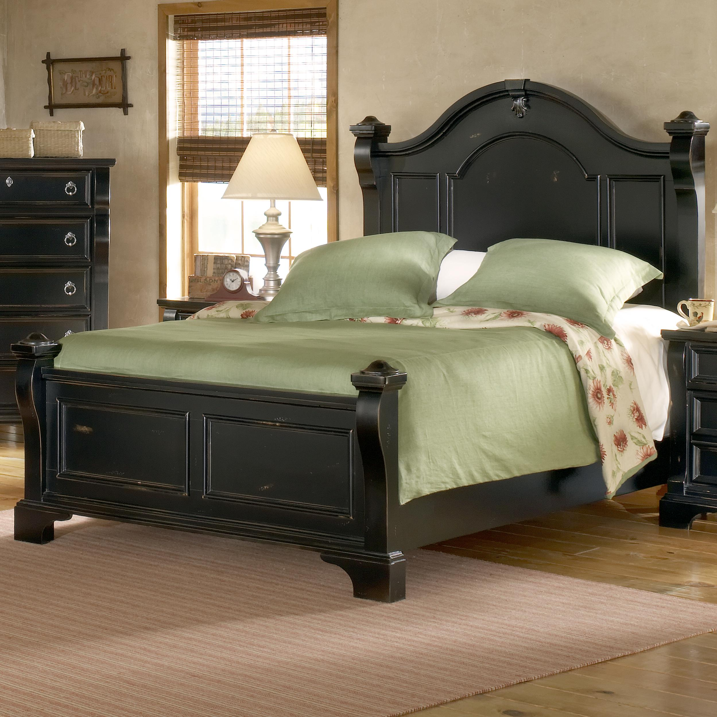 American Woodcrafters Heirloom Queen Poster Bed - Item Number: 2900-951+953+880