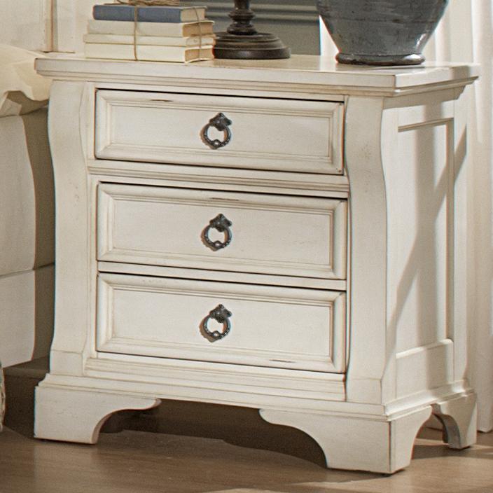 American Woodcrafters Heirloom Three Drawer Nightstand - Item Number: 2910-430