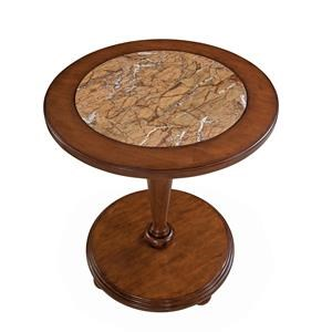American Woodcrafters Hudson Bay Round Marble Table