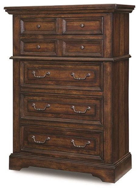 Stonebrook Tobacco FIVE DRAWER CHEST by American Woodcrafters at Johnny Janosik