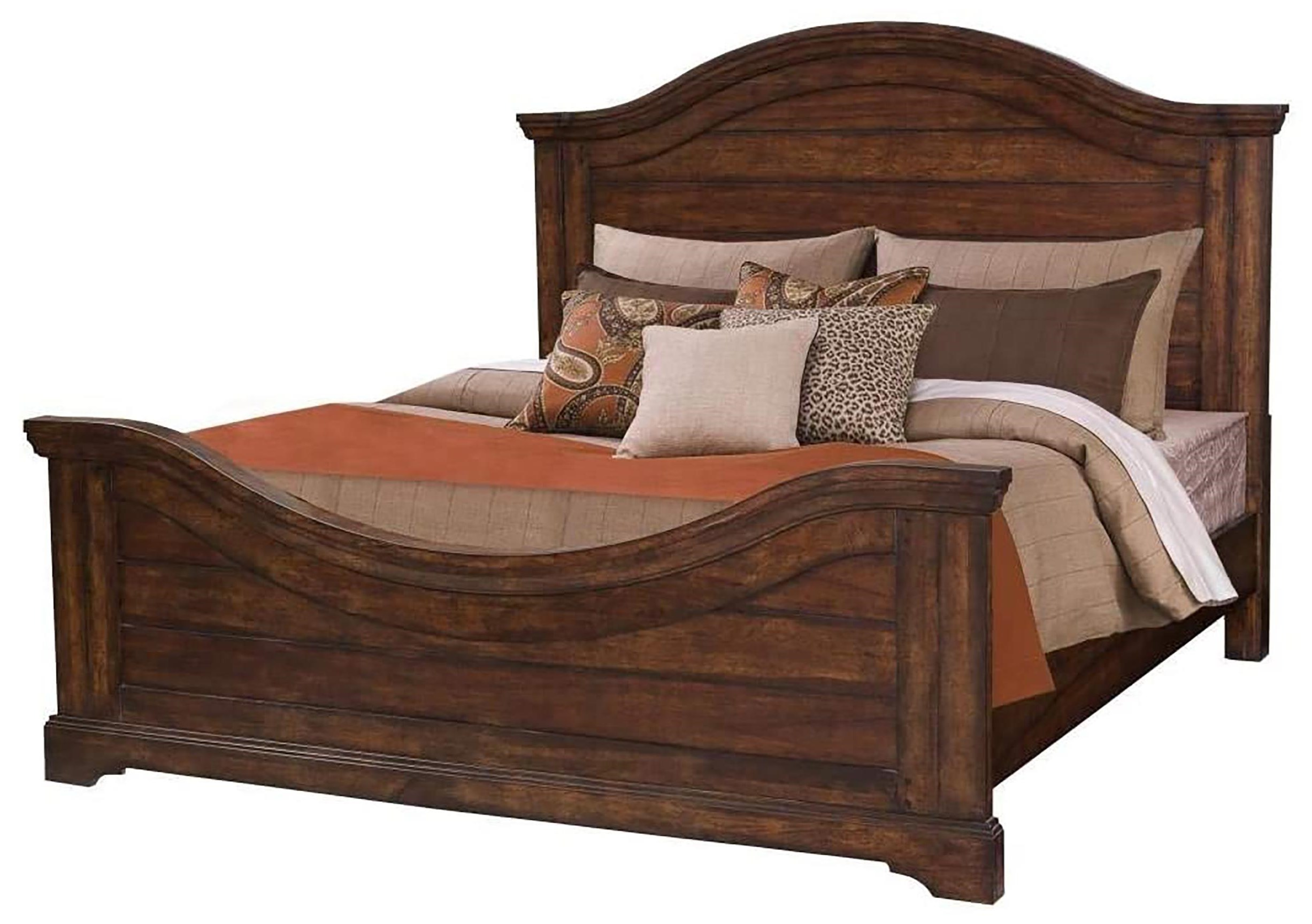 Stonebrook Tobacco King Panel Bed by American Woodcrafters at Johnny Janosik