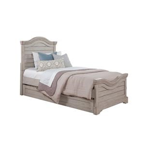 American Woodcrafters Stonebrook Youth in Antique Gray Full Panel Bed
