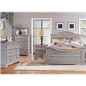 American Woodcrafters Stonebrook Queen Bed, Dresser, Mirror, and Nightstand - Item Number: GRP-7820-QUEENSUITE