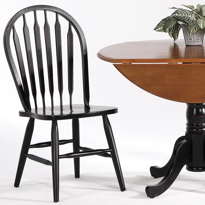 Farmhouse and Traditional Windsor Arrow Back Side Chair by Amesbury Chair at Dinette Depot