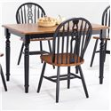 Amesbury Chair Farmhouse and Traditional Windsor Rectangular Table - Item Number: BC3048FARM