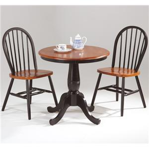 Amesbury Chair Farmhouse and Traditional Windsor Round Pedestal ...