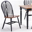 Amesbury Chair Creations II Wagon Wheel Side Chair - Item Number: BC4900