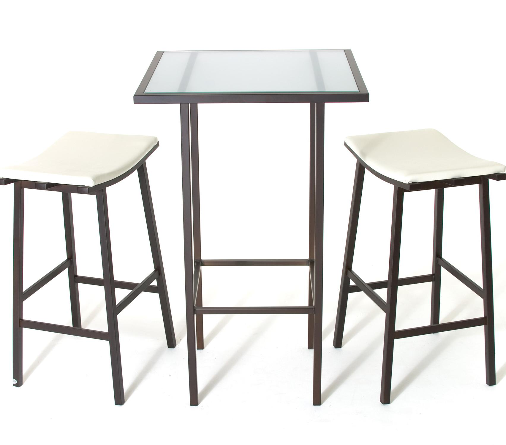 Amisco Aden Dinette Contemporary Bar Height Table and Stools - Item Number: 50838+2X4033B