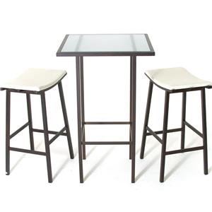 2257 Aden Dinette Contemporary Bar Height Table and Stools