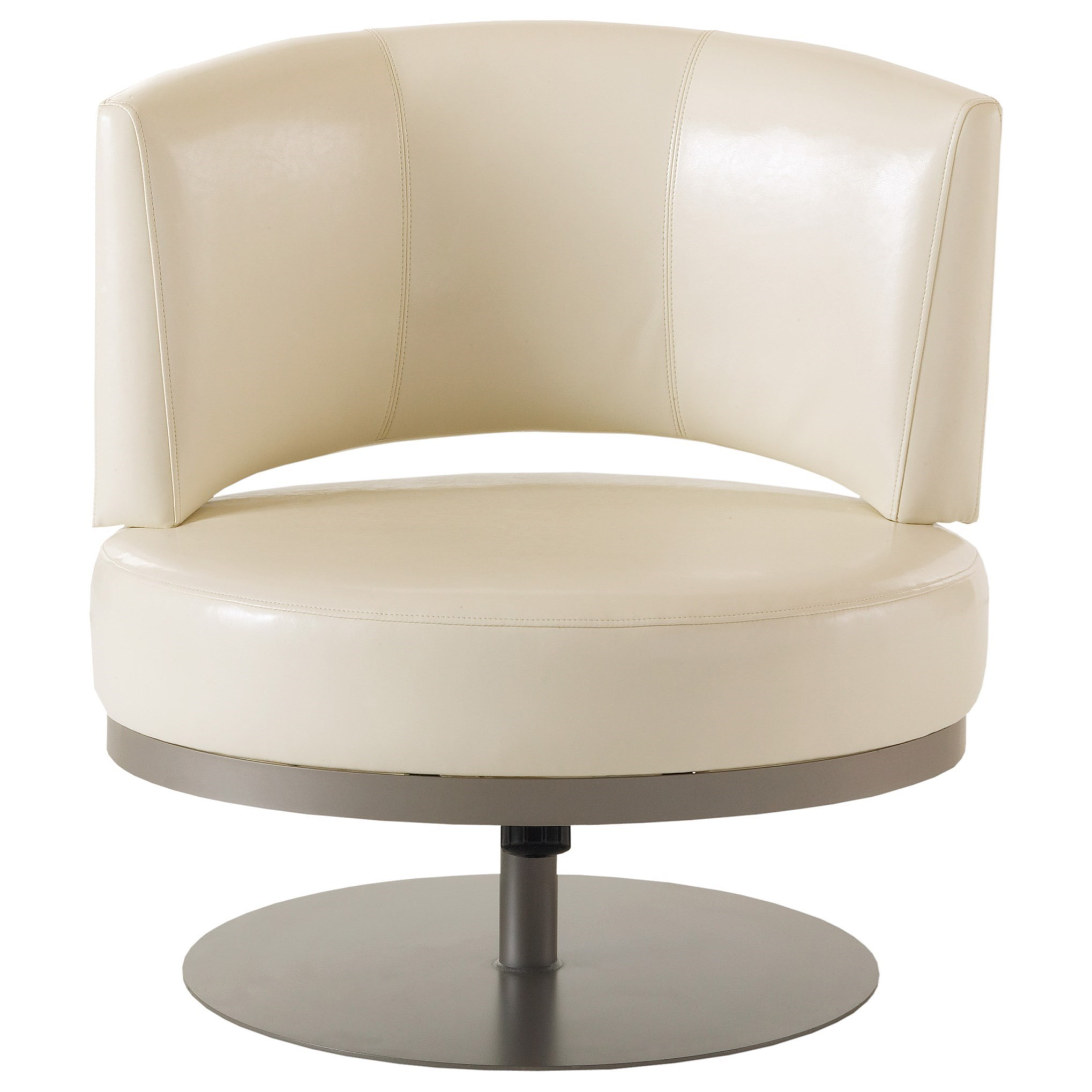 Boudoir Singapore Swivel Accent Chair by Amisco at Jordan's Home Furnishings