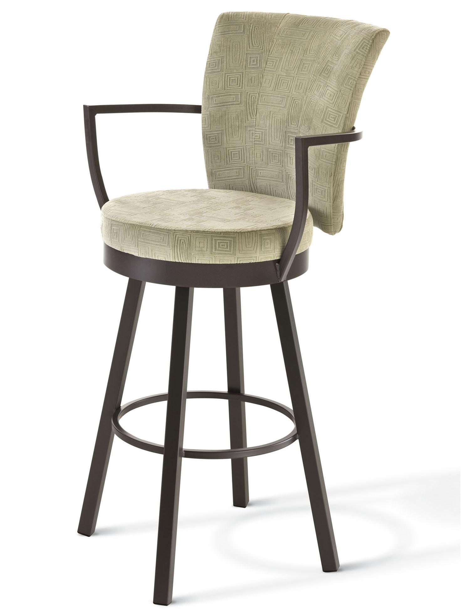 Boudoir Counter Height Cardin Swivel Stool by Amisco at Jordan's Home Furnishings