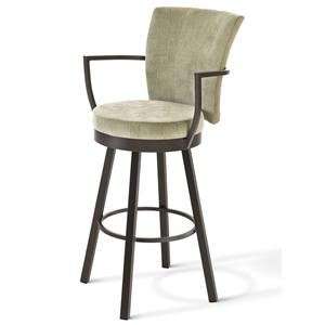 Amisco Boudoir Counter Height Cardin Swivel Stool