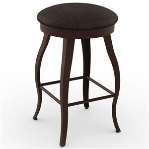 "Amisco Boudoir 26"" Pearl Swivel Stool"