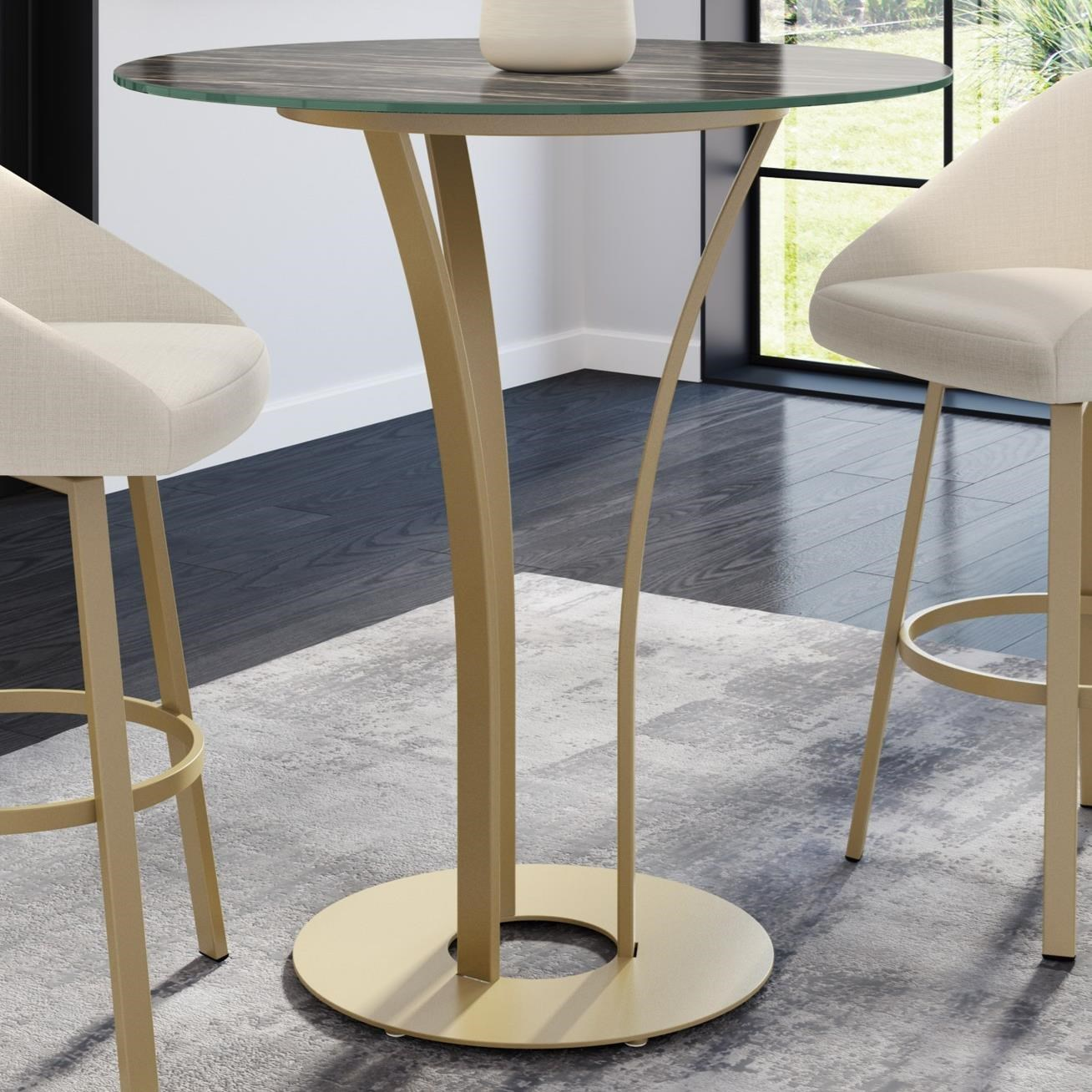 Boudoir Dalia Bar Table by Amisco at Jordan's Home Furnishings
