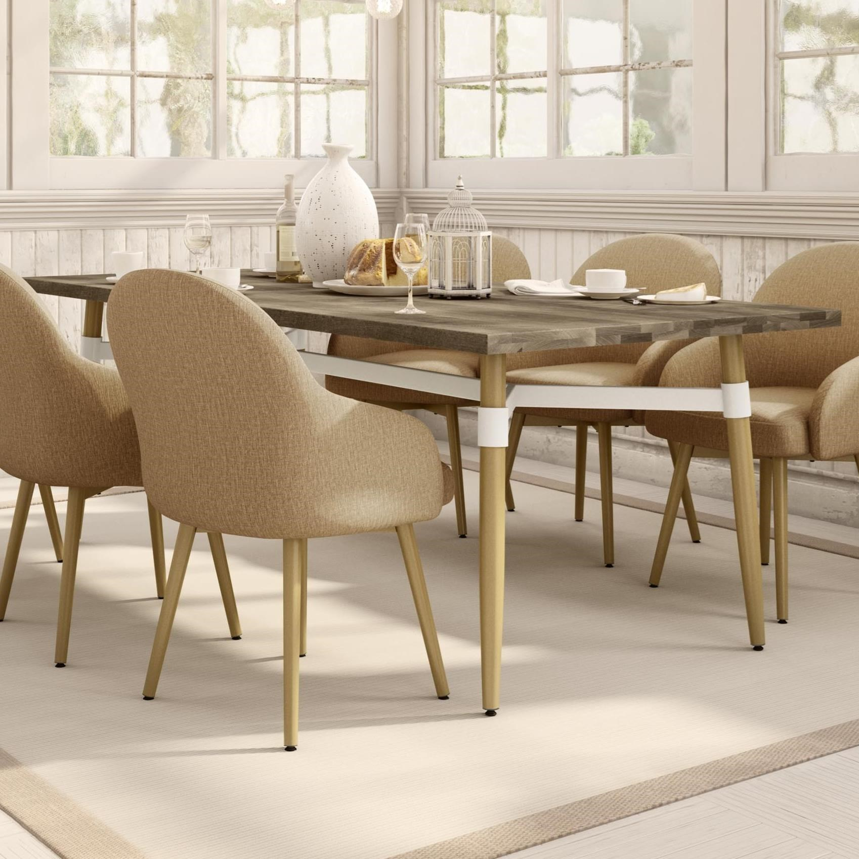 Boudoir Link Dining Table by Amisco at Dinette Depot
