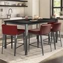 Amisco Boudoir 5-Piece Bennington Counter Table Set - Item Number: 50660-36+93487-A6+4x45309-26