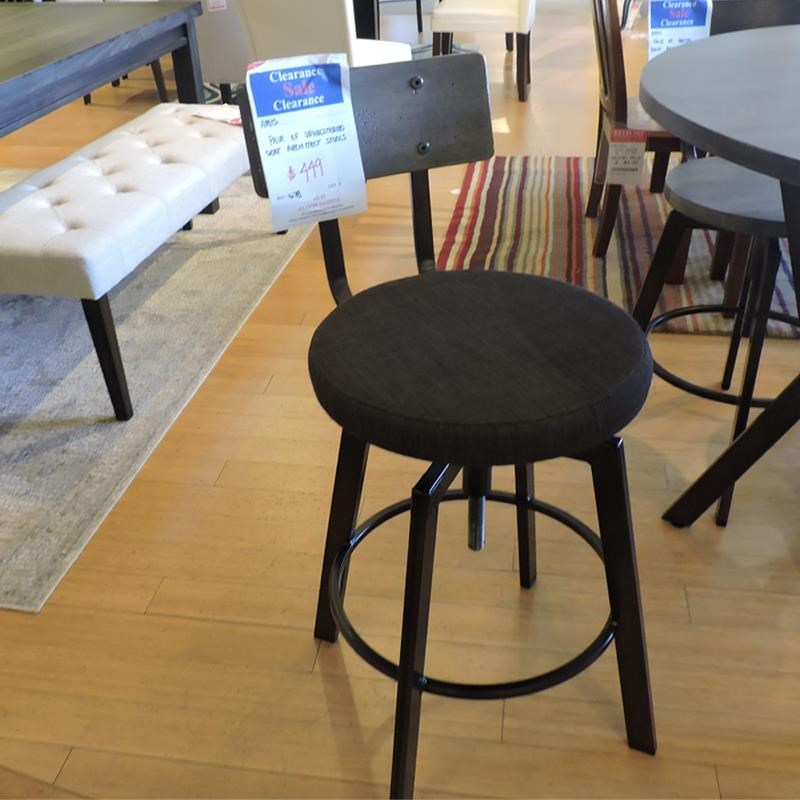 Pair of Upholstered Architect Bar Stools