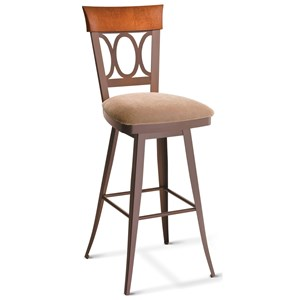 "Amisco Countryside 26"" Cindy Counter Height Swivel Stool"