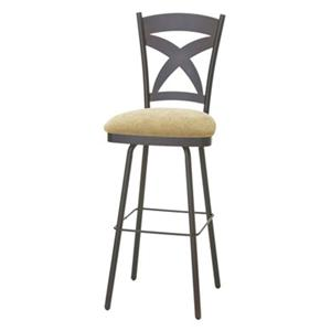 "Amisco Countryside 30"" Marcus Bar Height Swivel Stool"