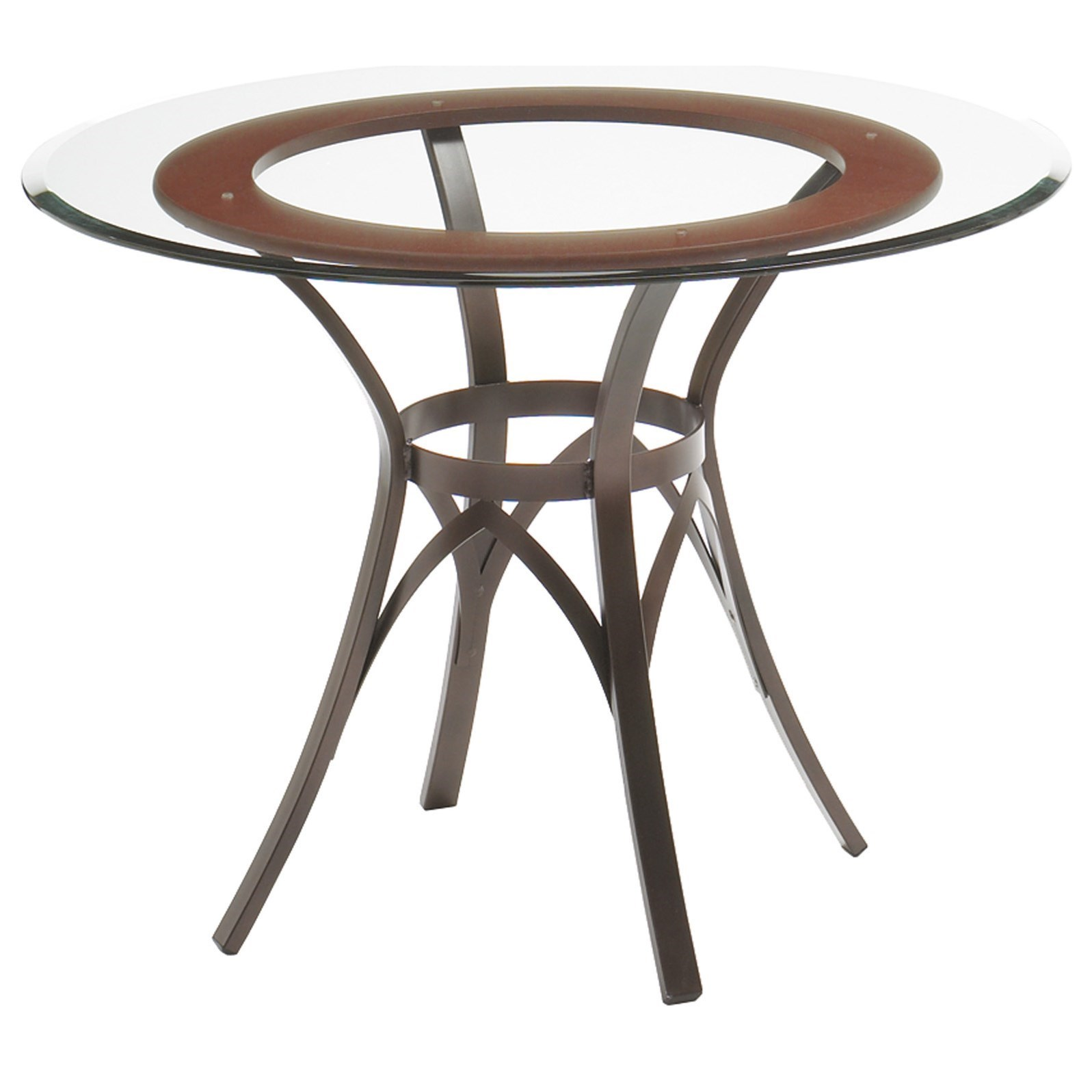 Kai Table w/ Wood Ring Insert and Glass Top