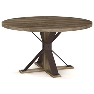"Martina Table with 52"" Round Wood Top"